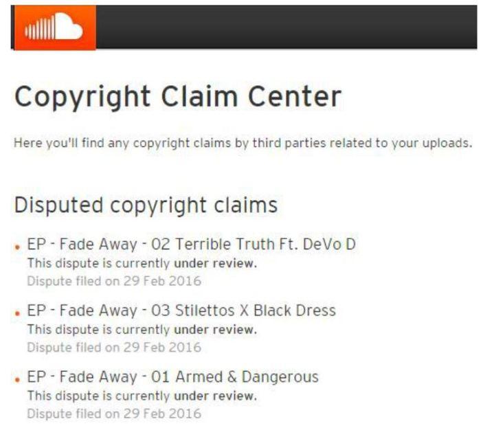 Copyright Claim - SoundCloud